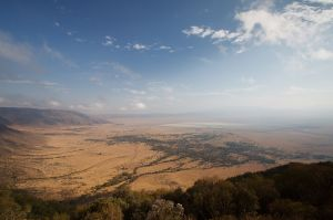 Ngorongoro des de dalt / Ngorongoro desde el borde / Ngorongoro from the rim